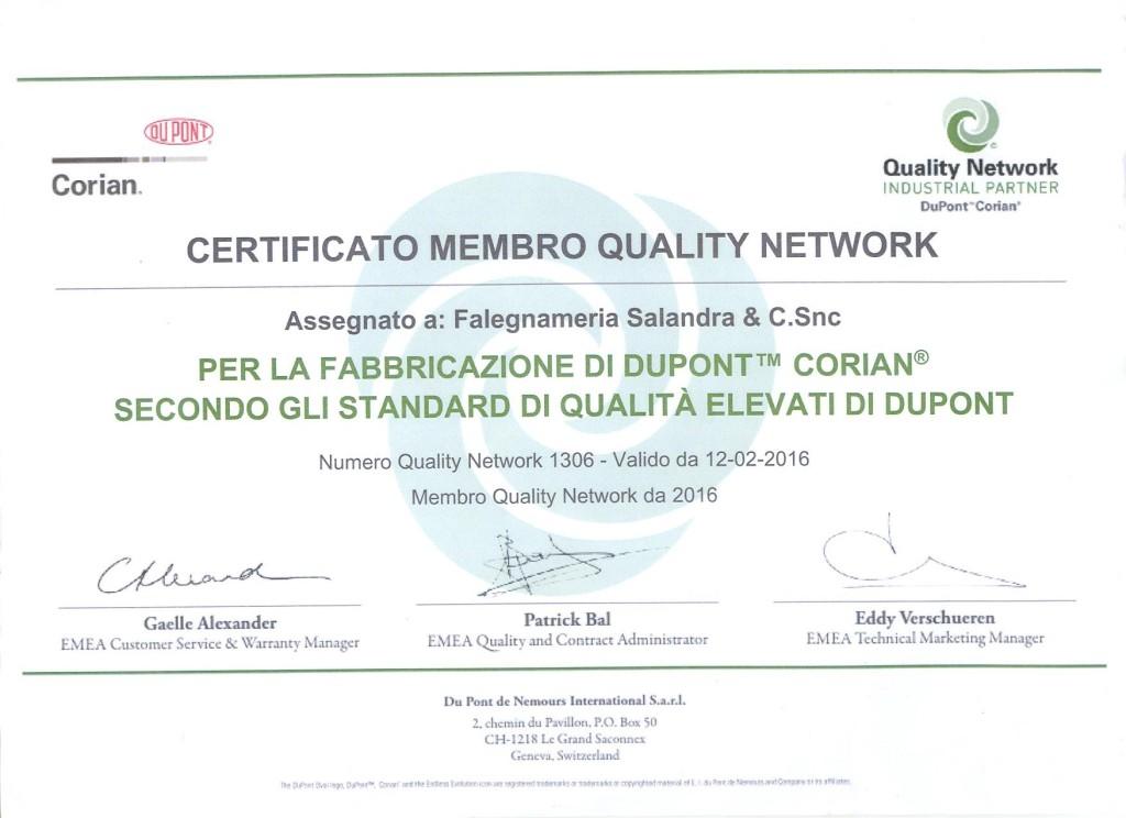 0. certificato corian